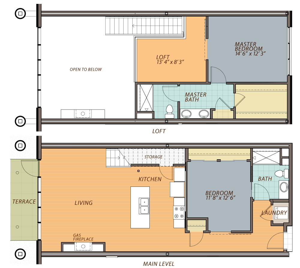 Two bedroom loft floor plans thecarpets co for 2 bedroom with loft