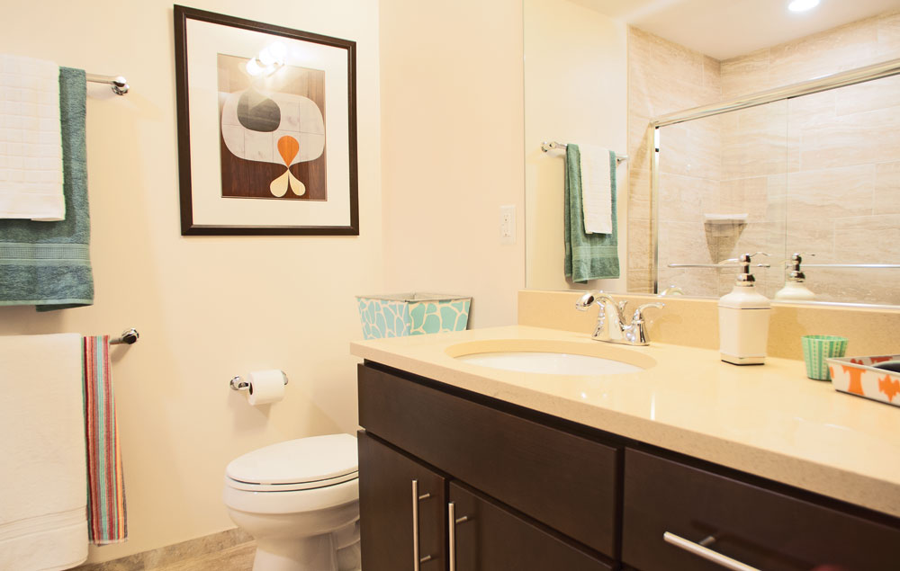Bathroom with lots of counter space
