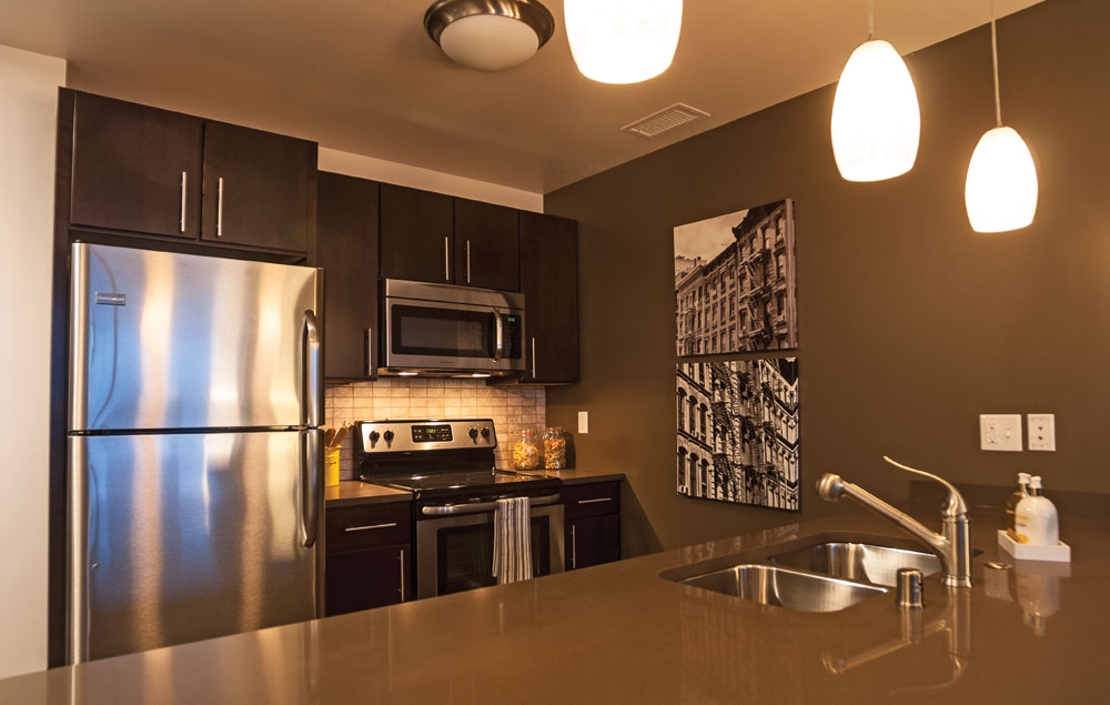 One Bedroom kitchen with modern look