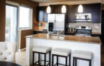 luxury two bedroom apartment kitchen and breakfast bar