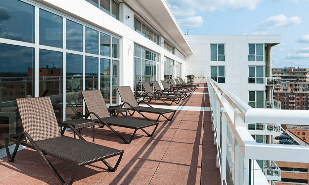 Ovation sun deck patio for residents